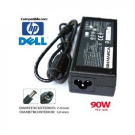 Cargador HP/DELL compatible 19v 4,74A