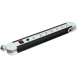 Regleta con interruptor protegida de sobrecarga y voltaje