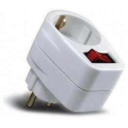 Ladrón de red Schuko con interruptor