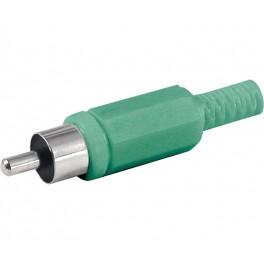 Conector RCA macho verde