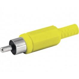 Conector RCA macho amarillo