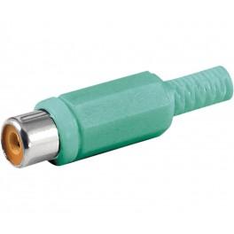 Conector RCA hembra verde
