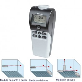 Medidor de distancia ultrasonidos con láser