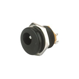 CONECTOR HUECO MACHO PANEL  2,1mm