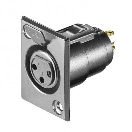Conector canon XLR 3 pines hembra chasis