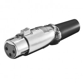 Conector canon XLR 3 pines hembra aéreo