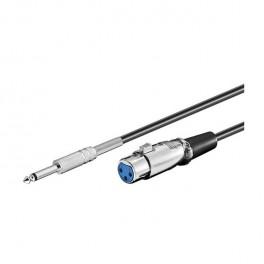 Cable XLR hembra-jack 6,3 mono