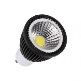 Lámpara led GU10 90º 3W COB negro
