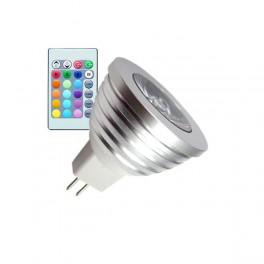 Lámpara led GU5.3 5W 12V RGB