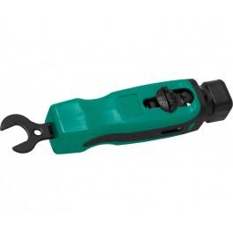 Pelacables coaxial con llave para F