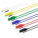 Cables conexión placa a cocodrilo 6 colores