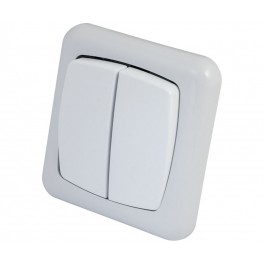 Interruptor doble para empotrar
