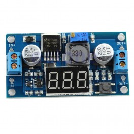 Módulo alimentación LM2596 con voltímetro