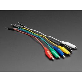 Cables dupont a cocodrilo 6 colores