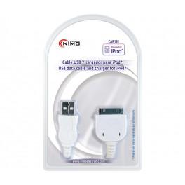 Cable USB datos y carga para iPod