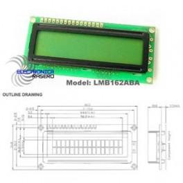 Módulo LCD 16 caracteres x 2 líneas