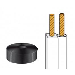 Cable altavoz paralelo blanco 2x0,75