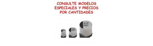 CONDENSADORES ELECTROLITICOS SMD
